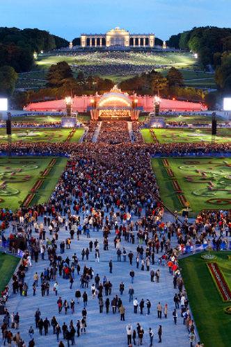 Conciertos de verano de la Filarmónica de Viena en Schönbrunn