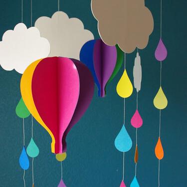 Manualidades para niños: 21 ideas de móviles fáciles y bonitos para colgar en la habitación infantil