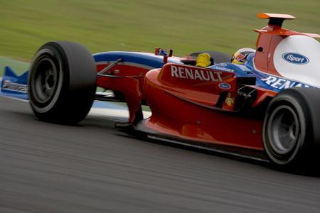 Jaime Alguersuari se estrena en Jerez con un GP2