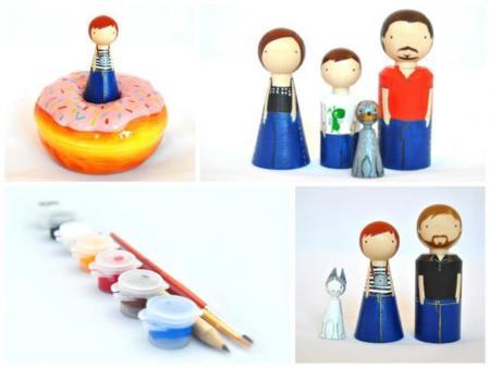 El Pez Volador, muñecos de madera personalizados handmade