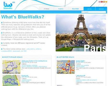 Bluewalks, web colaborativa de rutas para hacer a pie