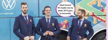 Cachondeíto con el nuevo uniforme de la Selección Española para la Eurocopa: ¡Parecen extras de la temporada 4 de 'Élite' o barítonos del coro masculino de 'Glee'!