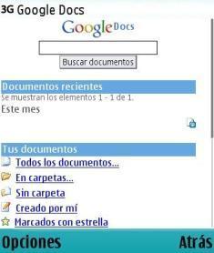 Versión móvil de Google Docs