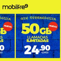Mobilfree añade hasta 10 GB adicionales sin coste en su última renovación de tarifas: ahora con 50 GB por 24,90 euros