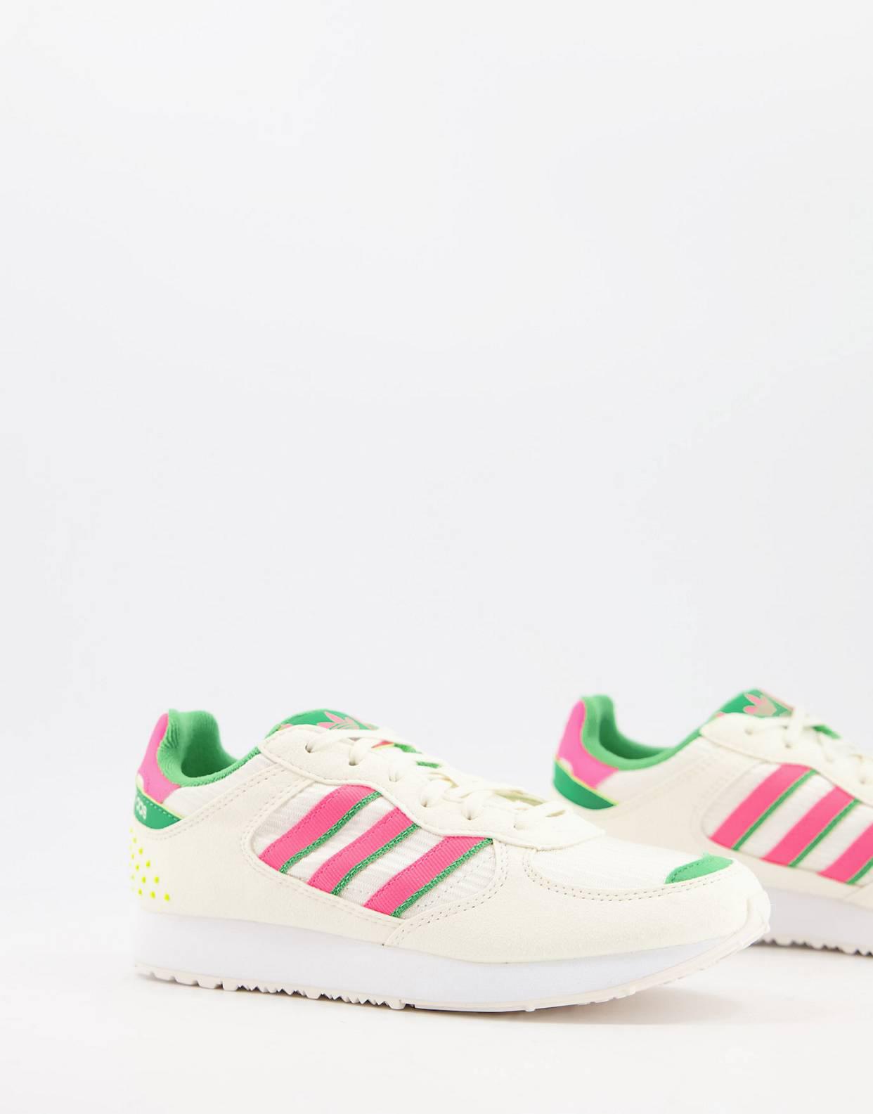 Zapatillas de deporte blancas con detalles rosas y verdes Special 21 de Adidas Originals