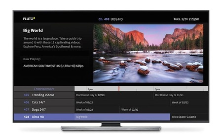Pluto TV dotará de contenido 4K a la Nvidia Shield