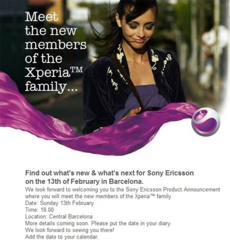 La familia Xperia de Sony Ericsson crecerá en el Mobile World Congress 2011