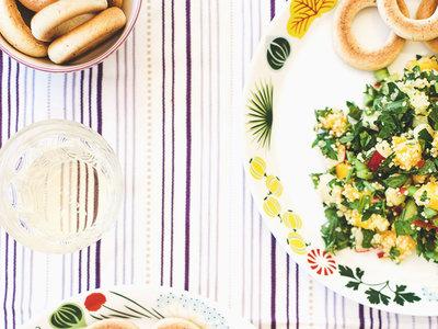 Ensalada ligera de cous cous, mango y menta. Receta