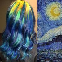 Esto es lo que sucede cuando se usa el cabello como lienzo de obras de arte clásico