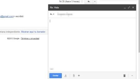 Usar la ventana emergente de redacción también en las respuestas