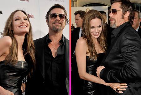 Angelina Jolie y Brad Pitt muy sonrientes en Los Ángeles