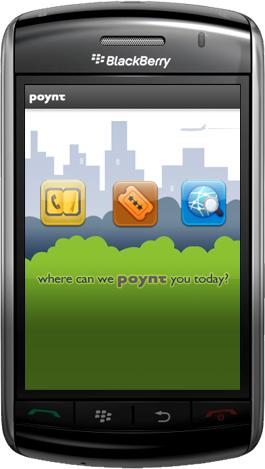 Poynt, localizando con la BlackBerry