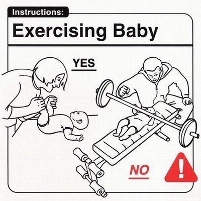 Ejercitar al bebe