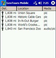 Viajando con GeoTours Mobile