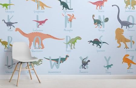 Papel pintado con dinosaurios