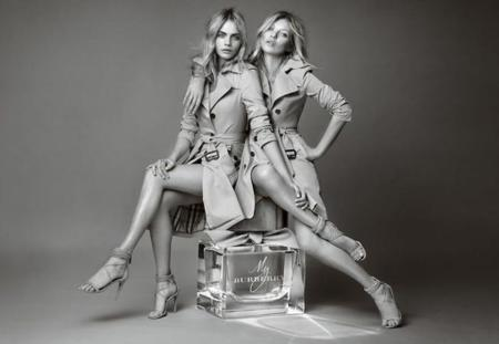 cara delevingne kate moss burberry