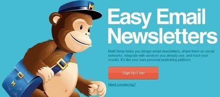 MailChimp, el mono cartero para profesionales
