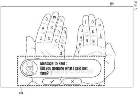 Samsung pretende que nuestras manos se conviertan en un teclado QWERTY