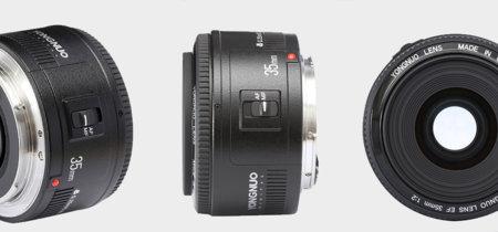 Yongnuo 35mm f./2, un clon del Canon 35mm por 400 dólares menos