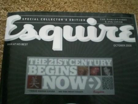 Esquire con tinta electrónica en vídeo