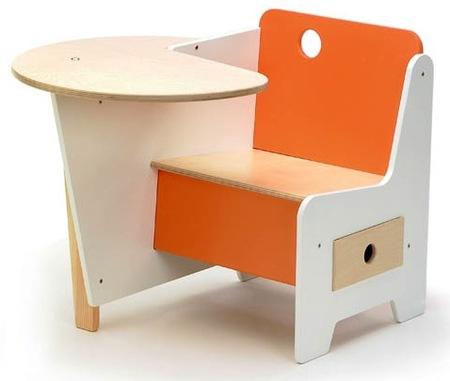 escritorio naranja niños offi