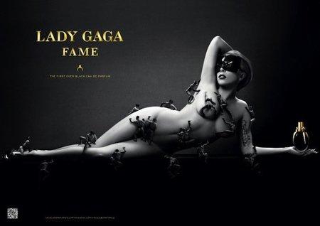 Lady Gaga se desnuda en la campaña de su perfume Fame