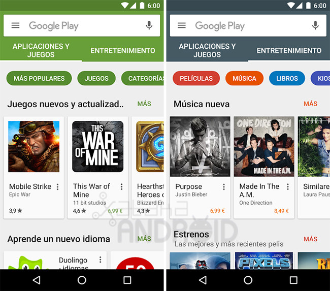 Google Play Store 6 0 So The New Interface That Has Already Reached