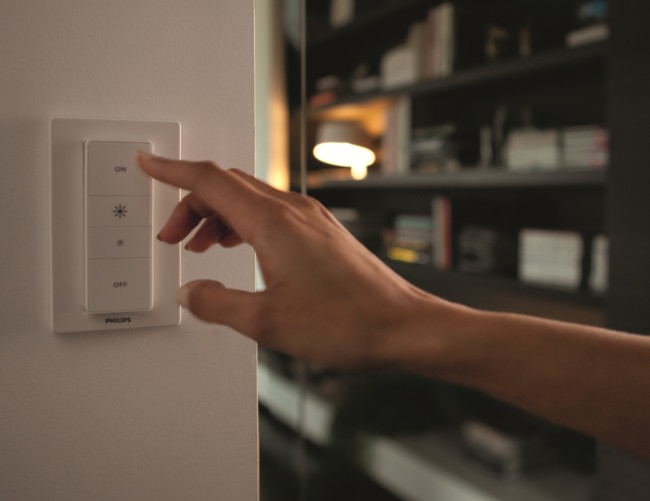 Philips crea un mando inalámbrico para controlar sus luces LED Hue