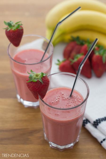 Cómo hacer un smoothie de fresa y plátano. Receta