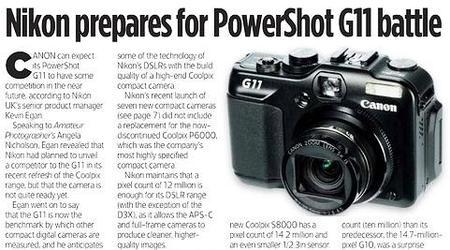 Nikon podría presentar en breve una rival para la Canon G11