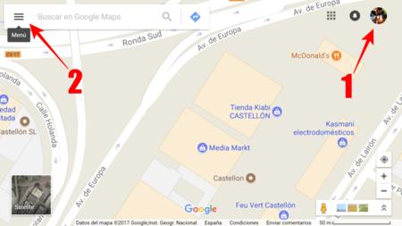 Pulsa Sobre El Menu De Google Maps
