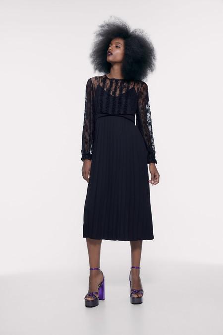 Vestido Encaje Zara