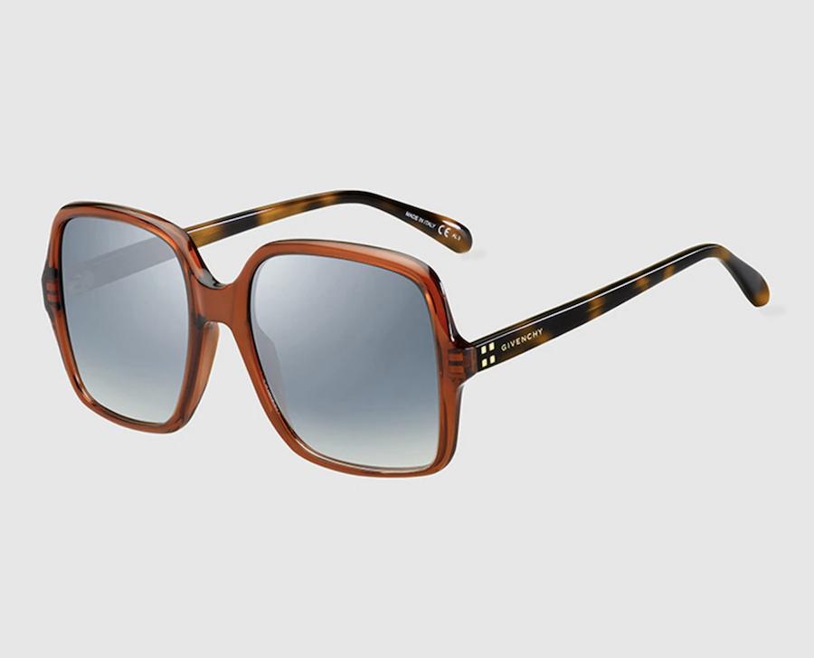 Gafas de sol mujer Givenchy oversize de acetato cuadradas en havana