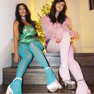 Este es el look retro (y vintage) que Kourtney Kardashian ha escogido para empezar a celebrar unas Navidades repletas de originalidad