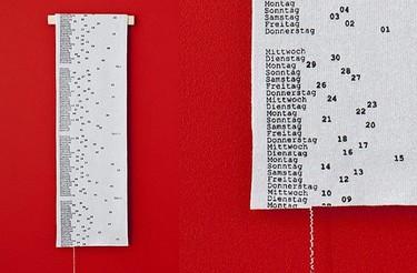 2011 Calendar Scarf, un calendario para destejer