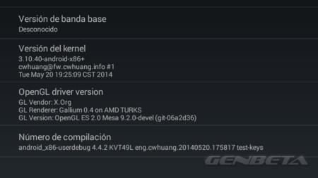 Android-x86, información OpenGL