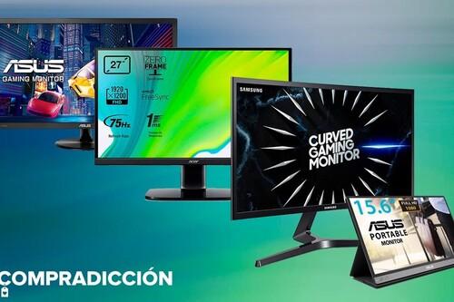 Estos 8 monitores de PC para jugar, trabajar o portátiles de Acer, ASUS o Samsung están rebajados esta semana en Amazon