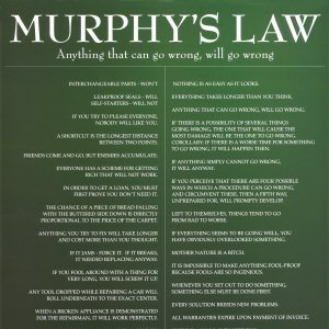 Leyes a lo Murphy