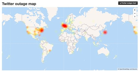 Twitter Down Map