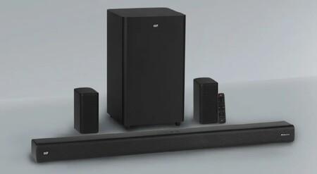 Monoprice acerca el sonido Dolby Atmos a la gama baja con el kit SB-600 que viene con barra de sonido, subwoofer y altavoces satélite