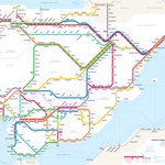 Mapas de Europa como si fueran planos del metro