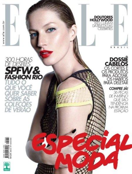 Gisele Bundchen de nuevo guapísima en la portada de Elle Brasil