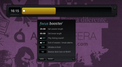 Focus Booster, aplicación para poner en marcha la técnica Pomodoro