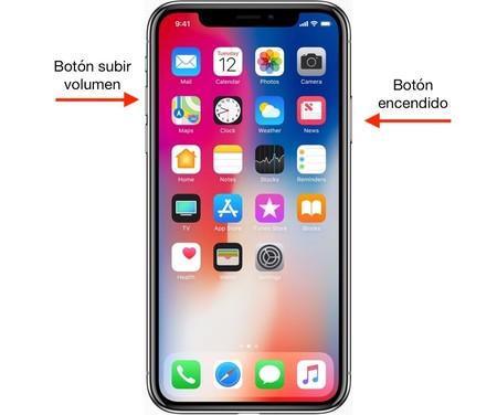 Cómo hacer captura de pantalla iPhone X