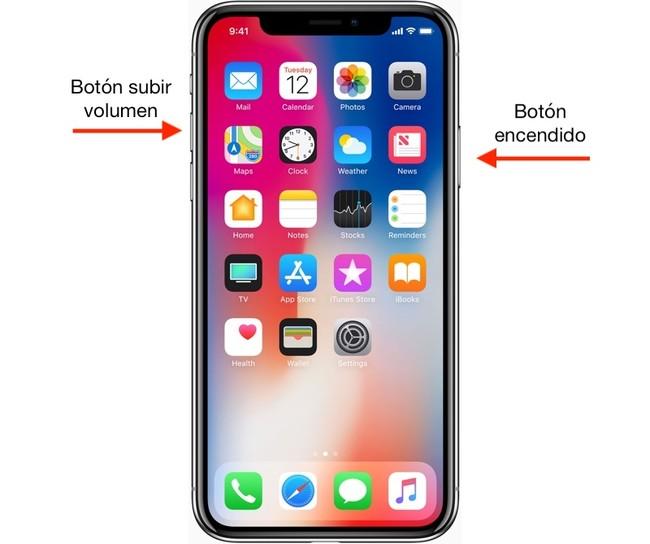 Cómo hacer atrapa de pantalla iPhone X