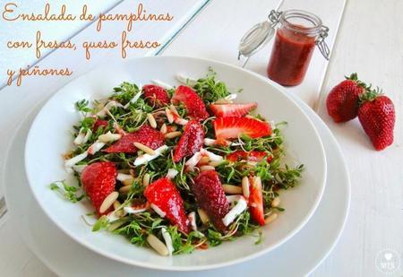 Paseo por la gastronomía de la red: ensaladas con fresas