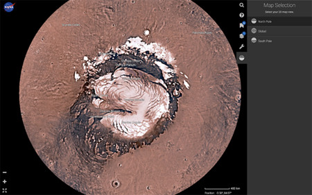 Navega por Marte con Mars Trek, al más puro estilo de Google Earth