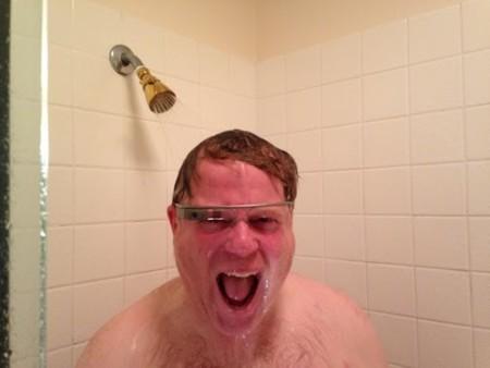 Scoble en la ducha con las Google Glass
