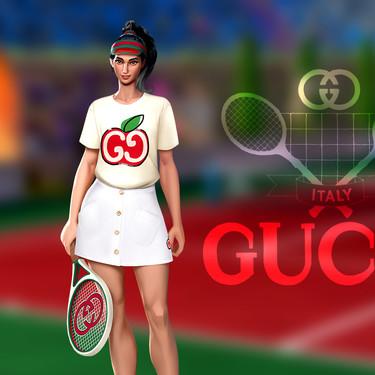 El videojuego para móviles Tennis Clash vestirá a sus jugadores de Gucci (al menos de forma virtual)