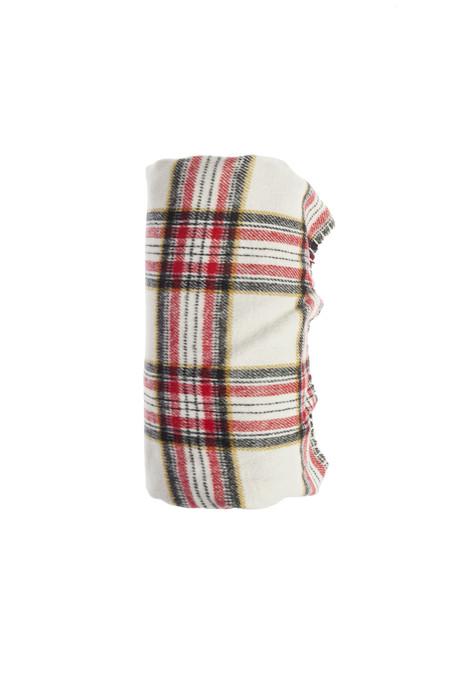 Muymucho Textil Manta Cuadro Escoces Franela 130x170cm 24 99eur Blanco Y Rojo